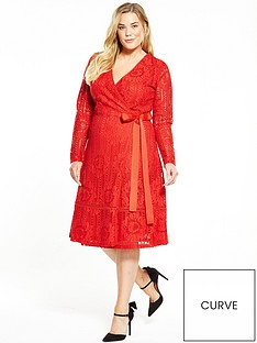 lost-ink-curve-curve-premium-wrap-lace-dress-red