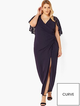 little-mistress-curve-little-mistress-curve-wrap-front-lace-sleeve-maxi