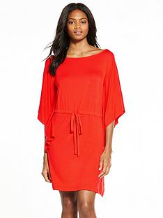 v-by-very-cape-sleeve-dress-tomato-red