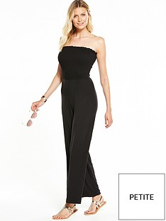 v-by-very-petite-strapless-shirred-top-jumpsuit-black