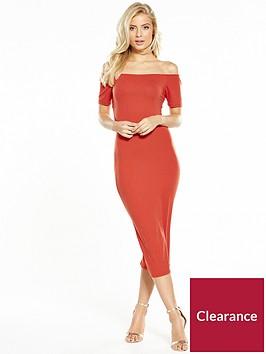 v-by-very-cross-back-bardot-midi-dress