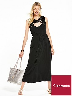 v-by-very-macrame-trim-maxi-dress--nbspblack