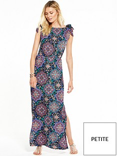 v-by-very-petite-bardot-tie-sleeve-maxi-dress