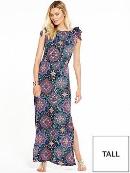 v-by-very-tall-bardot-tie-sleeve-maxi-dress