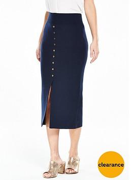 vero-moda-maine-knitted-split-skirt-navy