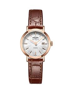 rotary-windsor-swiss-movement-date-dial-rose-tone-case-tan-leather-strap-ladies-watch