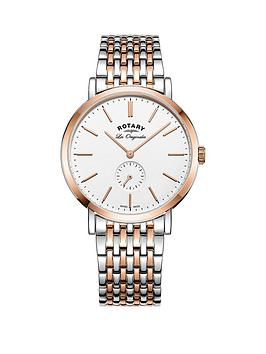 rotary-rotary-windsor-swiss-movement-white-dial-two-tone-bracelet-mens-watch
