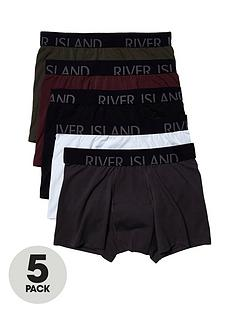 river-island-5pk-classic-trunks