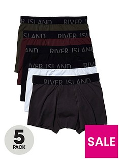 river-island-5pk-classic-trunks