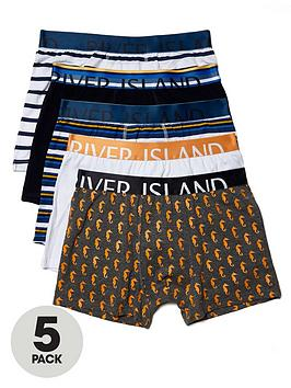 river-island-5-pack-striped-trunks