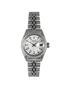 rolex-preowned-ladies-steel-date-white-roman-numeral-dial-reference-6924-ladies-watch-with-original-papers