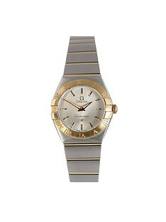 omega-omega-preowned-steel-amp-rose-gold-constellation-ladies-silver-dial-serial-90951066-ladies-watch