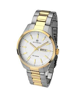 accurist-white-dial-two-tone-stainless-steel-bracelet-mens-watch