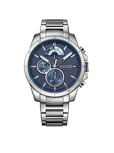 718de016 Tommy Hilfiger Tommy Hilfiger Decker Blue Multi Dial Stainless Steel  Braclet Mens Watch