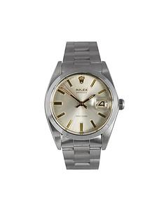 pre owned mens watches gifts jewellery very co uk rolex rolex preowned oysterdate precision silver dial ref 6694 mens watch
