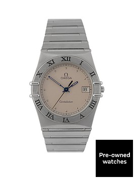 omega-preowned-constellation-steel-quartz-silver-dial-mens-watch