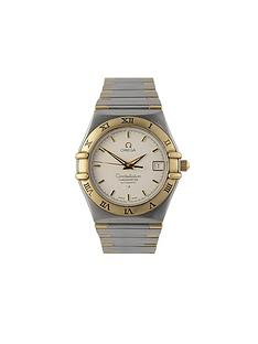 omega-omega-preowned-bimetal-constellation-automatic-silver-dial-ref-130230-mens-watch