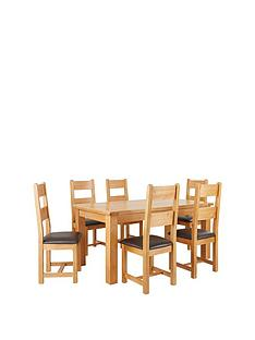 oakland-170-cm-100-solid-wood-dining-table-6-oakland-chairs