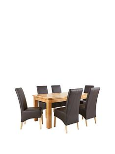 oakland-170-cm-100-solid-wood-dining-table-6-new-eternity-chairs