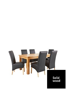 oakland-170cm-solid-wood-dining-table-6-eternity-chairs