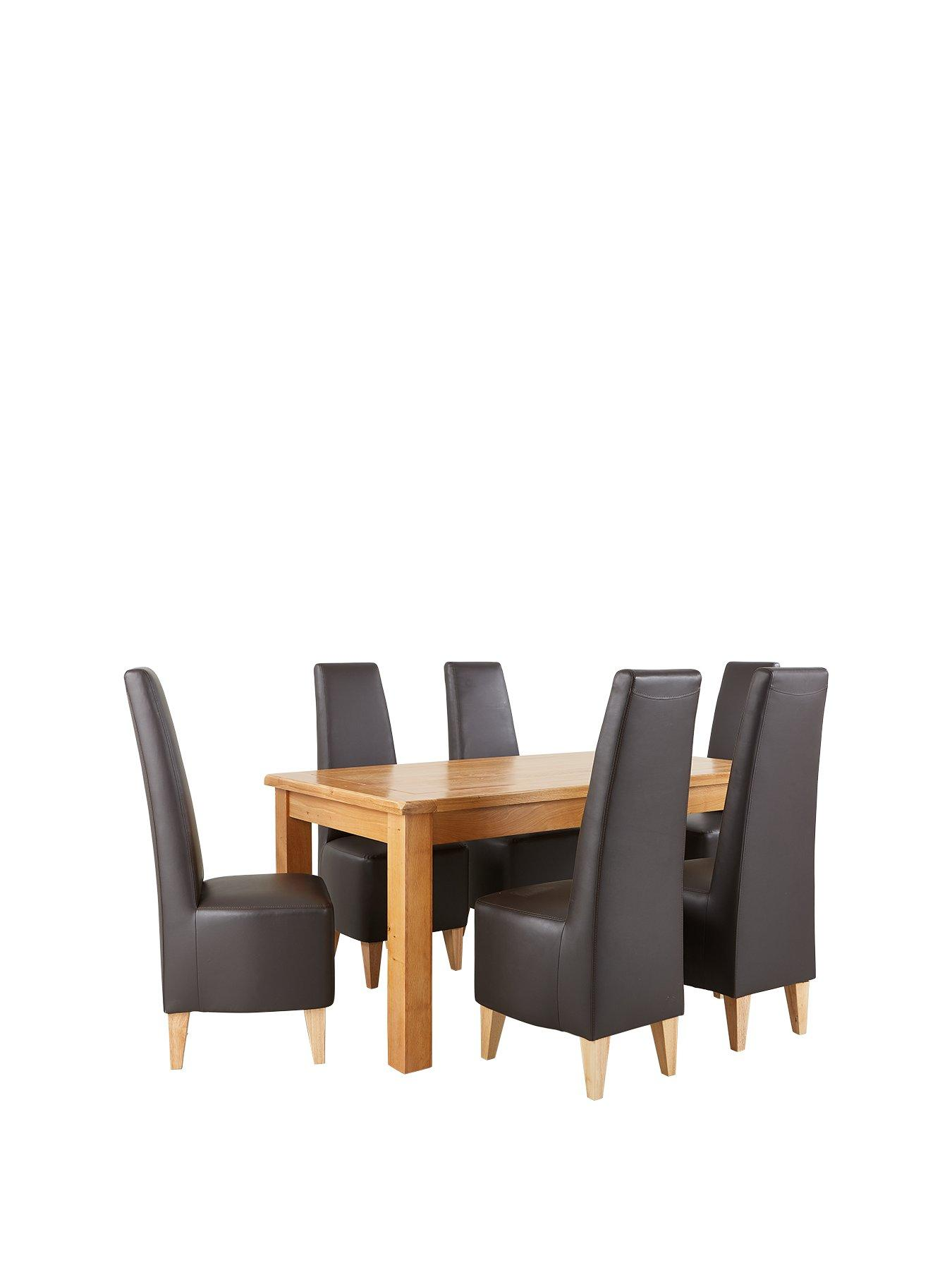 dining room sets uk. oakland 170cm solid wood dining table + 6 manhattan chairs room sets uk a