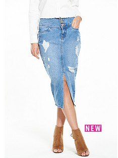 lost-ink-lost-ink-high-waisted-denim-shreaded-skirt