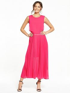 lost-ink-rebecca-double-layer-pleat-dress-fuchsia