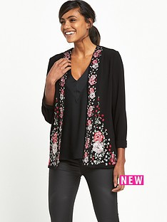 river-island-short-printed-jacket-black