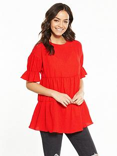 lost-ink-textured-smock-top-red