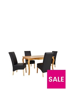 alisha-150-cm-solid-wood-dining-table-4-eternity-chairs