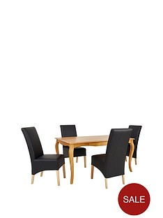 alisha-solid-wood-dining-table-4-new-eternity-chairs