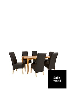 alisha-150-cm-solid-wood-dining-table-6-eternity-chairs