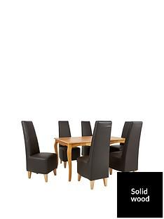 alisha-150-cm-solid-wood-dining-table-6-new-manhattan-chairs
