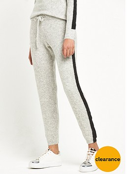 river-island-grey-stripe-knitted-joggers