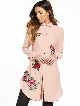 river-island-longline-embroidered-shirt