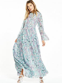 lost-ink-broken-stripe-floral-print-maxi-dress