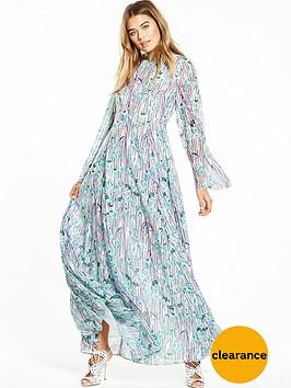 lost-ink-broken-stripe-floral-print-maxi-dress