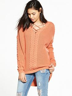 river-island-coral-cable-jumper