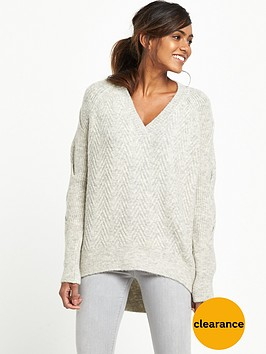river-island-knitted-jumper-grey