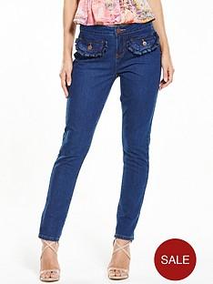 lost-ink-frill-pocket-slim-fit-jeans-ndash-dark-denim