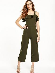 lost-ink-jersey-frill-jumpsuit-ndash-khaki