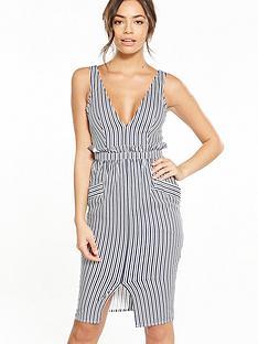 lost-ink-lost-ink-adia-stripe-paperbag-waist-dress