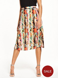 lost-ink-hammered-satin-pleated-skirt
