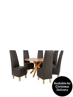 starburst-119-cm-oak-veneer-circular-dining-table-6-manhattan-chairs