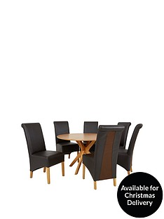 starburst-119-cm-oak-veneer-circular-dining-table-6-sienna-chairs