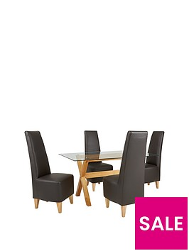 venla-150-cm-solid-wood-and-glass-dining-table-4-manhattan-chairs-arrives-in-one-delivery