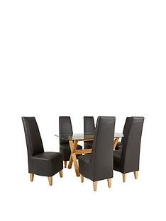 venla-150-cm-solid-wood-and-glass-dining-table-6-new-manhattan-chairs-buy-and-save
