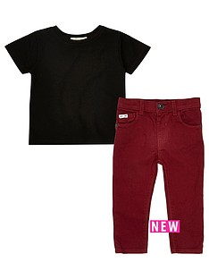 river-island-mini-boys-black-t-shirt-and-red-trousers-set