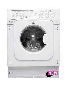 Indesit IWME127 7kg Load, 1200 Spin Integrated Washing Machine - White