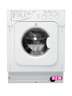 Indesit Ecotime IWME147 7kg Load, 1400 Spin, Integrated Washing Machine - White